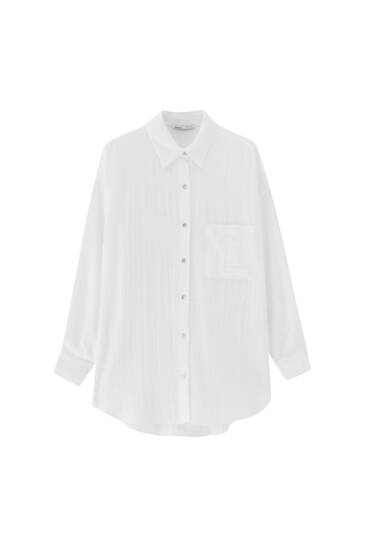 Rustic shirt with front pocket