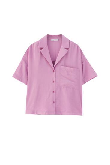 Pink cropped shirt