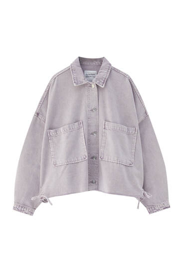 Mauve overshirt with gathered back