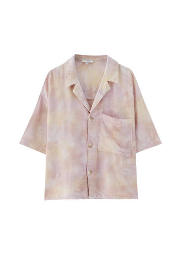 Rustieke blouse met korte mouw