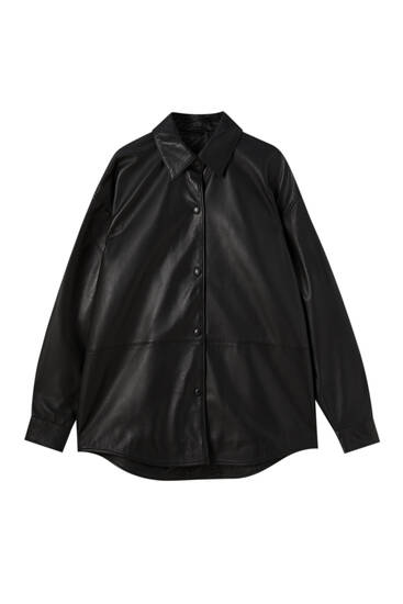 Limited Edition leather overshirt