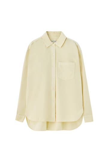 Oversize pastel-coloured shirt