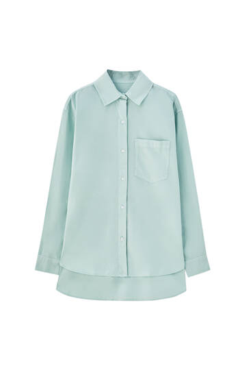 Oversize pastel-coloured shirt