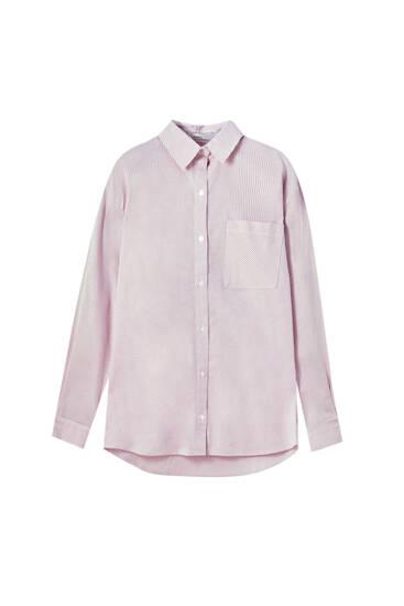 Unisex striped poplin shirt