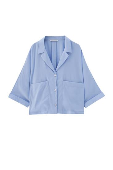 Two pocket blue shirt
