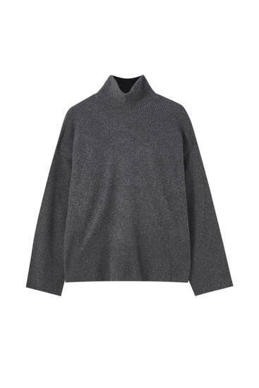 Sweater de malha de gola alta