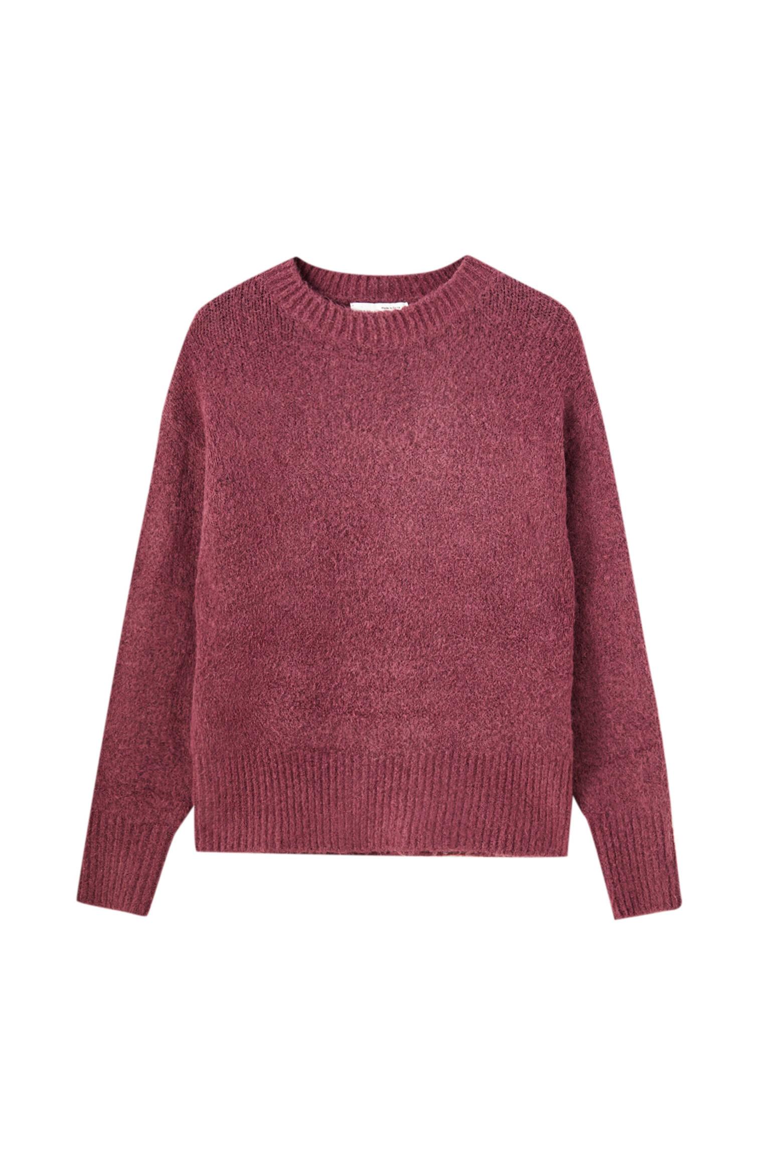 ЦВЕТ ИНЖИРА Мягкий свитер из синтетической шерсти Pull & Bear
