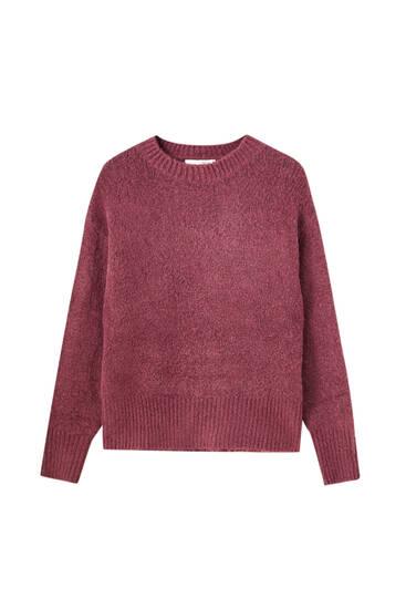 Soft touch synthetisch wollen trui
