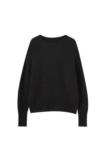 Soft-touch synthetic wool sweater