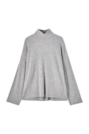Oversize-Pullover im Rippenstrick