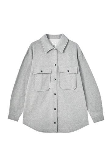 Surchemise grise poches devant