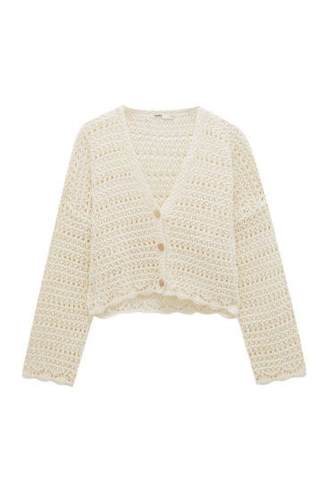 Crochet cardigan with buttons