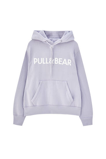 Pull&Bear logo pouch pocket hoodie