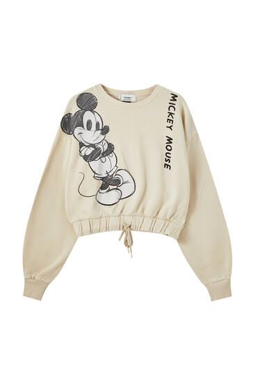Beige Mickey Mouse sweatshirt