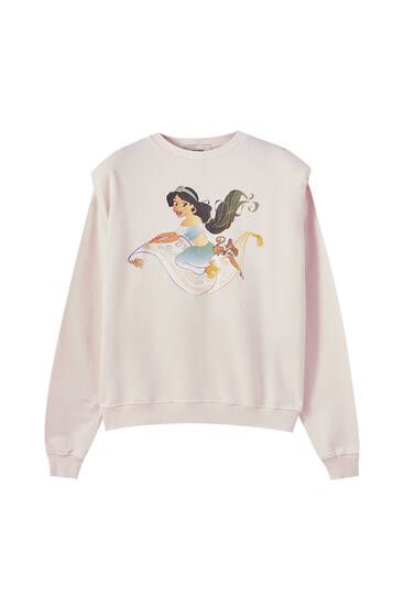 Pink Jasmine sweatshirt with shoulder pads