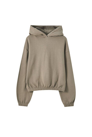 Basic sweatshirt with elastic waistband