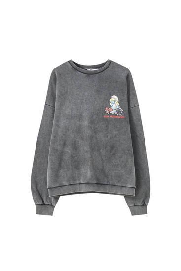 Smurfette round neck sweatshirt