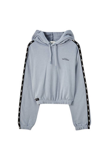 STWD hoodie with contrast stripes