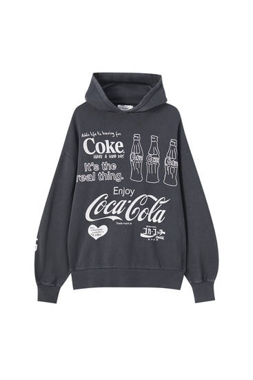 Coca-Cola slogan sweatshirt