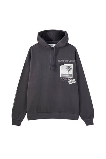 Hoodie with back graphic logo
