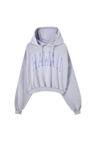 Grey Hawaii hoodie