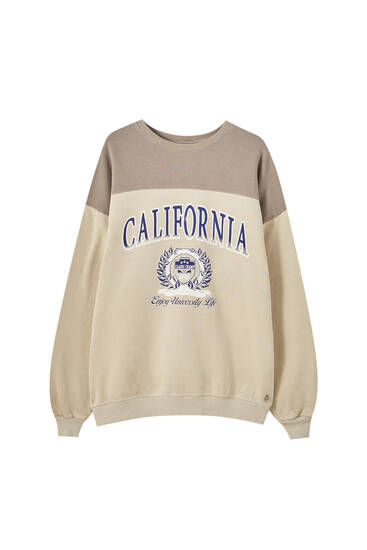 Brown sweatshirt with California panel