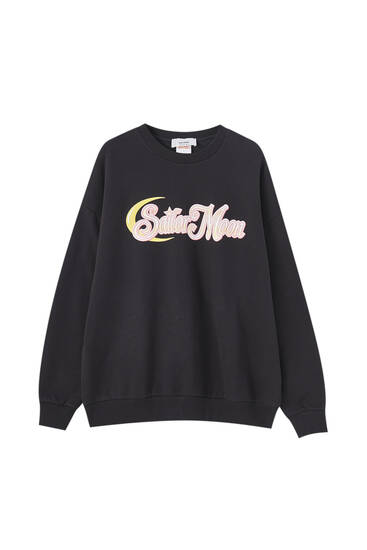 Sailor Moon sweatshirt with a moon print