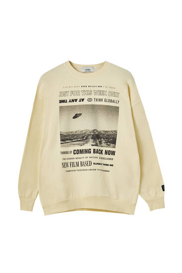 Yellow graphic print sweatshirt