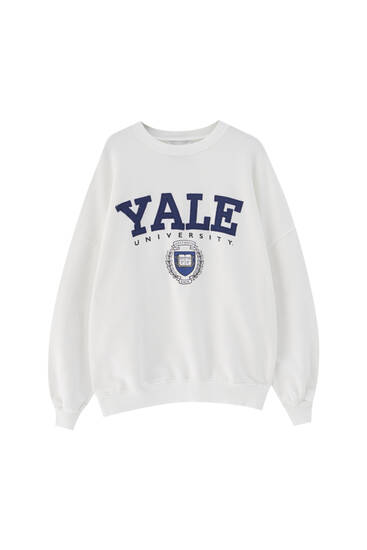 White Yale sweatshirt