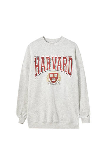 Grey Harvard sweatshirt dress