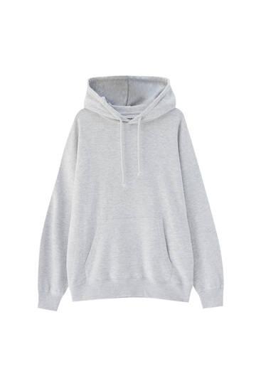 Sweatshirt canguru oversize com capuz