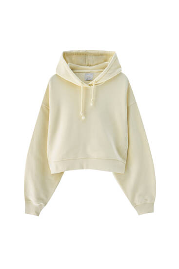Plain-coloured hoodie