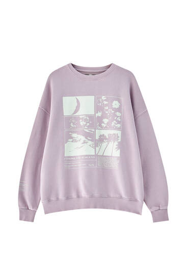 Faded graphic sweatshirt