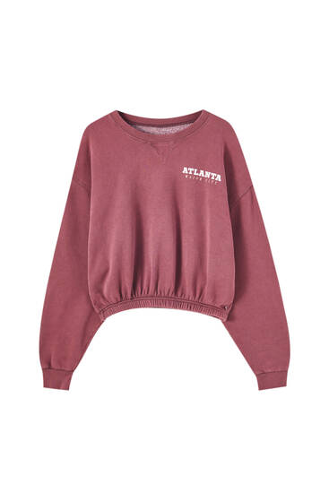 Burgundy drawstring sweatshirt