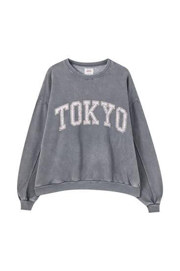Verwassen sweatshirt 'Tokyo'