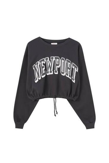 """سويت شيرت """"Newport"""" أسود"""