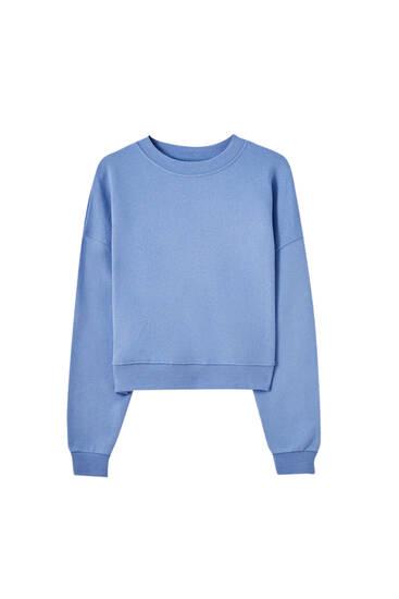 Basic sweatshirt with rib trims