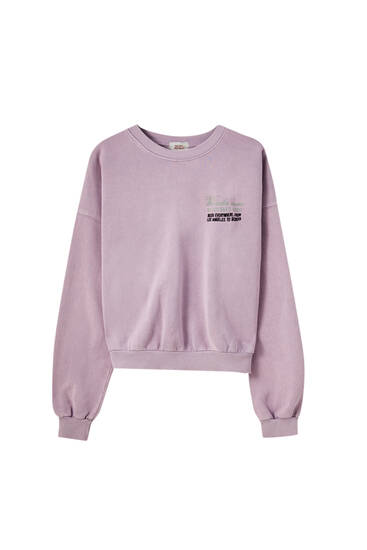 Faded pink sweatshirt
