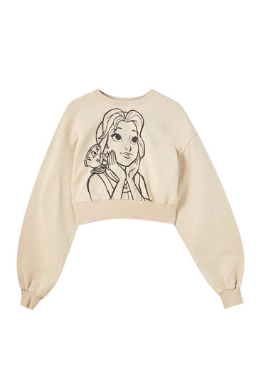 Cropped Disney Beauty sweatshirt