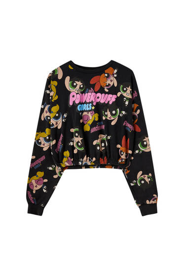 The Powerpuff Girls sweatshirt with black background
