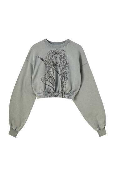 Cropped Merida Brave sweatshirt