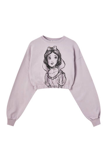 Cropped Snow White sweatshirt