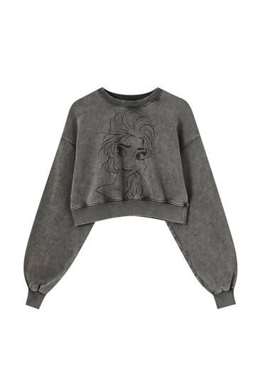 Elsa Frozen cropped sweatshirt