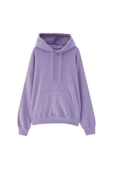 Oversized hooded sweatshirt