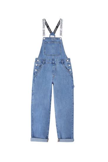 '90s denim overalls