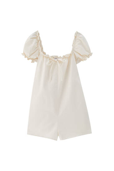 White denim playsuit