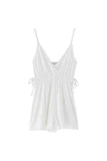 Playsuit with gathered waist