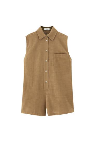 Short shirt-style playsuit