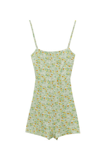 Strappy playsuit with knotted back