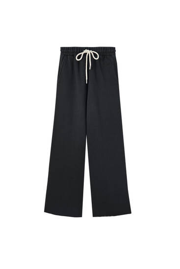 Wide-leg jogging trousers